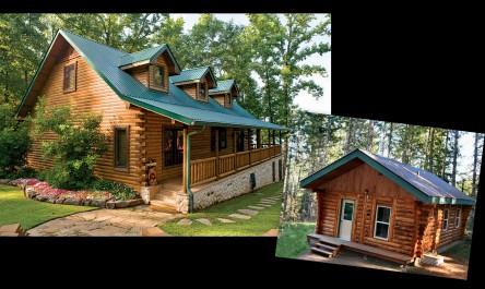Log Cabin Montage